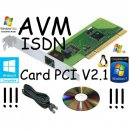 AVM Fritz Card PCI V2.1 ISDN Karte PCi LOW Profile +...